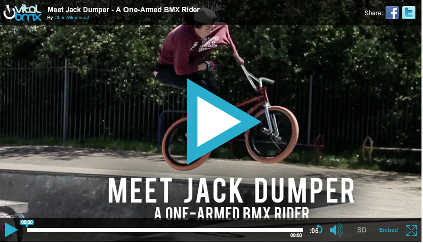 Video: Meet Jack Dumper – A One-Armed BMX Rider